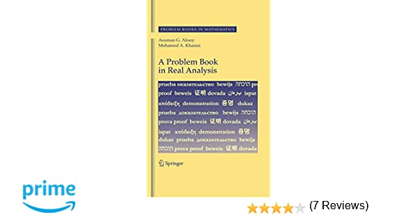 Amazon.com: A Problem Book in Real Analysis (Problem Books in ...