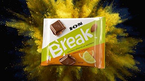 Ion Break Milk Chocolate With Almonds Orange and Lemon 85g ()