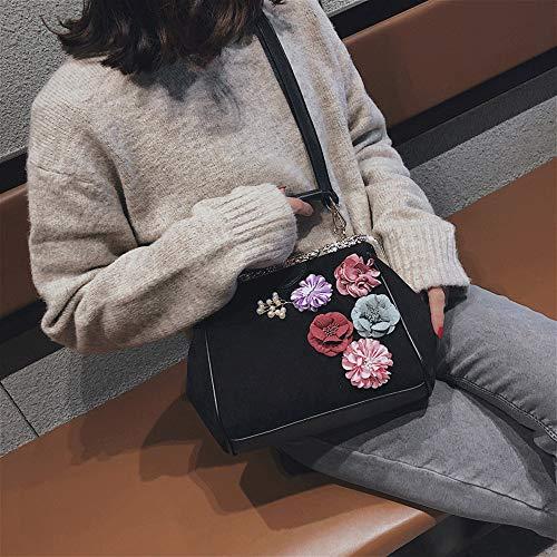 moda Borsa Hong moda piccola a stile a Opmea donna nero tracolla colore marrone tracolla Kong Borsa piccola CgSvqC
