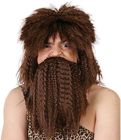 Peluca y barba de Náufrago castaña: Amazon.es: Juguetes y juegos