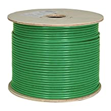 CAT6A 10G, STP, 23AWG, Solid Bare Copper, CMR, 1000ft, Green, Bulk Ethernet Cable