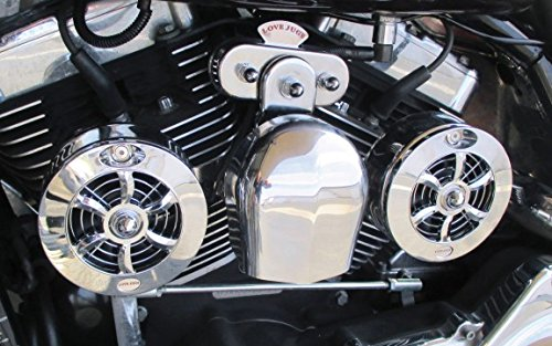 CL-100 Love Jugs Cool Master Chrome V-Twin Engine Cooling System for Harley Motorcycles