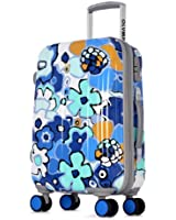 Olympia Blossom II 21-Inch Polycarbonate Carry-On Spinner with TSA Lock BU