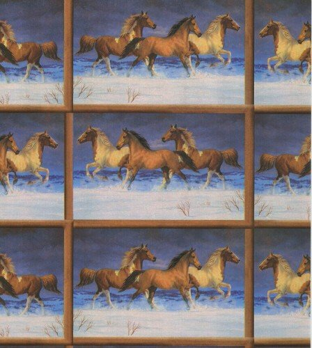 Roll Ranch - Snow Horses Heavy Gift Wrapping Paper -26