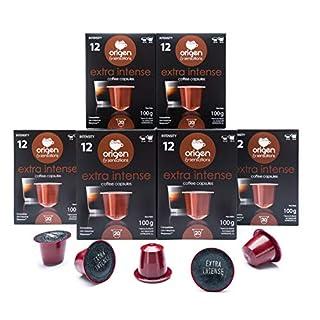 Nespresso Compatible Capsules - 120 Pods Pack - Extra Intense Expresso pods for Nespresso full compatible with Original Line Nespresso Machine, 120 Capsules of Strong Extra Intense Espresso