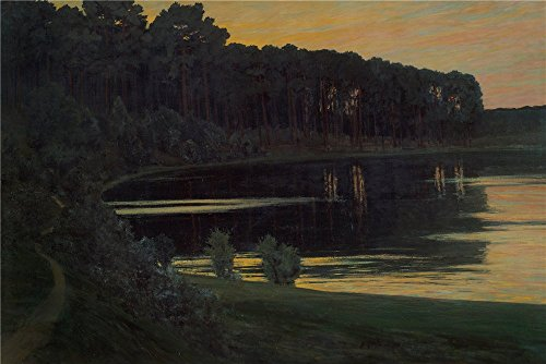 [Oil Painting 'Walter Leistikow Grunewaldsee ' Printing On High Quality Polyster Canvas , 18 X 27 Inch / 46 X 68 Cm ,the Best Bedroom Artwork And Home Gallery Art And Gifts Is This Cheap But High Quality Art Decorative Art Decorative Prints On] (Starter Dance Costumes For Sale)