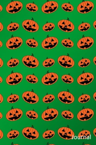 Journal: Green pumpkin jack o lantern notebook -