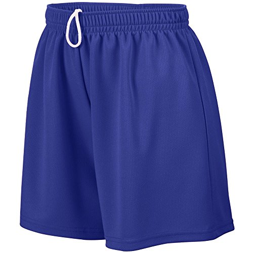 Augusta Sportswear Augusta Ladies Wicking Mesh Short, Purple, X-Large