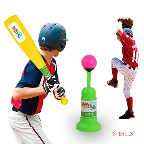 Kids Baseball Training Set Automatic Launcher Baseball Bat Toys, Indoor Outdoor Sports Baseball Games Set for Children 3+ by Bigbuyu