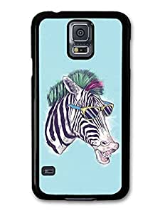 AMAF ? Accessories Funny Zebra With Sunglasses Illustration case for Samsung Galaxy S5 wangjiang maoyi by lolosakes