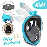 UKON Snorkel Mask Full Face Foldable Snorkel Tube 180 View Easy Breathe Anti-Fog