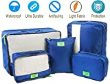 Packing Cubes for Travel Luggage Organizers Set Space Saver Bags in Bag,5 PCs, Blue