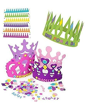 12 Princess Foam Tiara Craft Kits Prince King Crown
