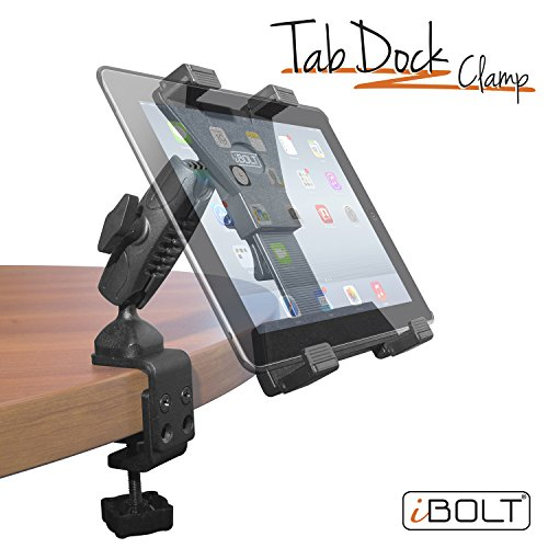 iBOLT TabDock Bizmount Clamp- Heavy Duty Dual-Ball C-Clamp mount for all 7'' - 10'' tablets (iPad, Samsung Galaxy Tab, etc.) For Desks, Tables, Wheelchairs, Carts: Great For Homes, Schools, Offices by iBOLT