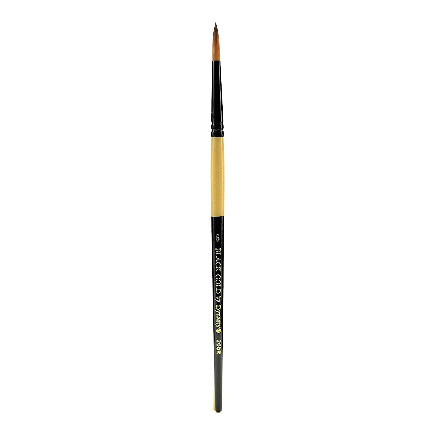 Dynasty Black Gold Series Synthetic Brushes Short Handle 6 round