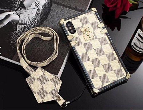 Apple iPhone X XS [10] [10S] Elegant Luxury PU 2 Folds Leather Wallet Style Flip Cover Case (White ()