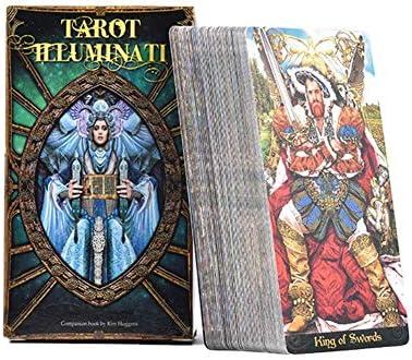 fridaymonga Tarocchi Illuminati Kit Tarocchi, 78 Hojas Tarocchi y guía de energía Cartas Oracle Oracle Deck Divinación Juegos de Cartas de Mesa para Juegos de casa, Inglés: Amazon.es: Hogar