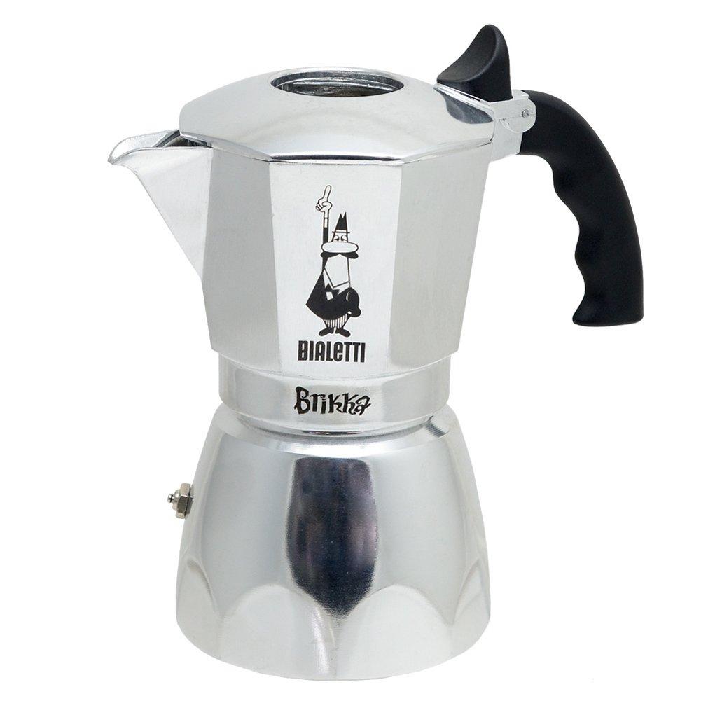 Bialetti Brikka 2-Cup Espresso Maker, Aluminium, Silver 0006188 1938/MR_metallic-17 5x14 4x10