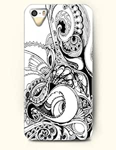 TYH - OOFIT Apple iPhone 5 5S Case Paisley Pattern ( Black and White Persia Decorative Boteh ) phone case