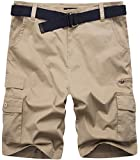 Wantdo Men's Lightweight Belted Cargo shorts 36 Light - Best Reviews Guide