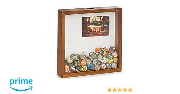 Amazon.com: Beer Bottle Cap Wooden Shadow Box with Photo Insert ...