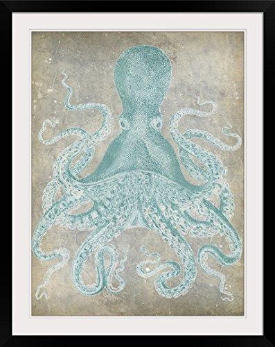 GreatBIGCanvas ''Spa Octopus I'' by Jennifer Goldberger Photographic Print with black Frame, 27'' X 36''''