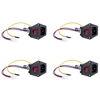 Miraculous Amazon Com 4Pcs 10A 250V Ac Socket Switch 3 Pin Iec320 C14 Inlet Wiring Database Aboleterrageneticorg