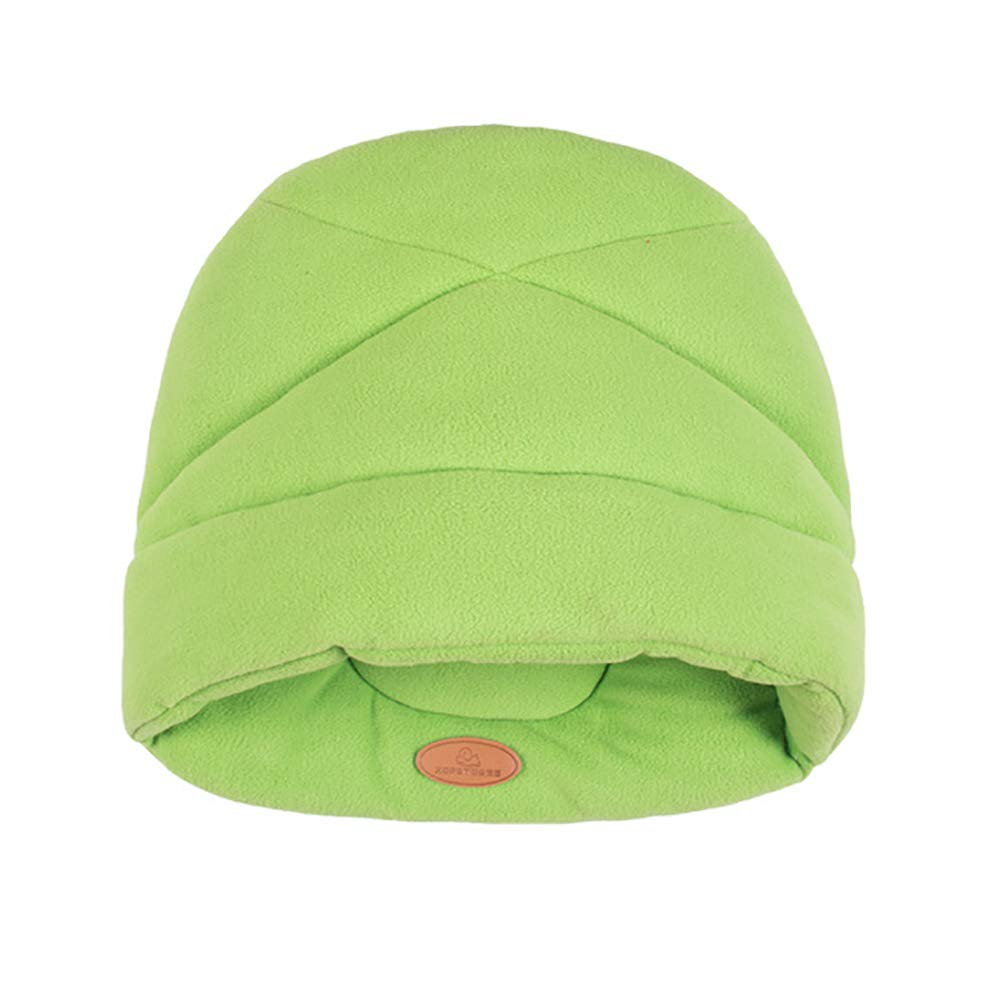 Green Medium green Medium Pet Dog Cat Nest Bed Soft Warm Cave, Cartoon Slippers Semi-Closed Pet Nest, Comfortable and Warm, Not Easy to Deform, Suitable for Small and Medium Dogs Cat Nest Mattress,Green,M