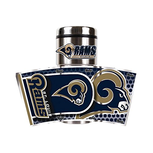 Jewelry Adviser Nfl Gifts NFL Rams 360 Metallic Wrap 16oz Stainless Tumbler ()