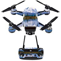 Skin for DJI Spark Mini Drone Combo - Mountains| MightySkins Protective, Durable, and Unique Vinyl Decal wrap cover | Easy To Apply, Remove, and Change Styles | Made in the USA