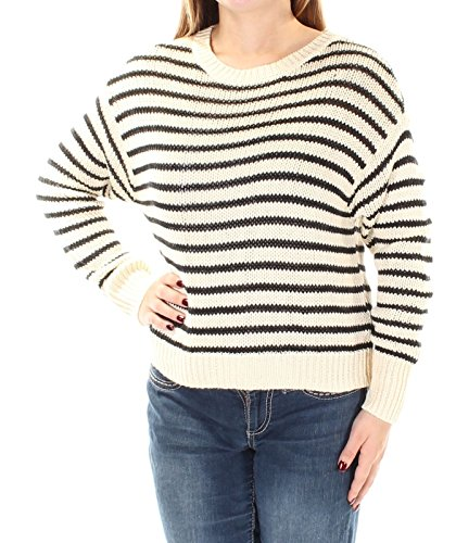 Denim & Supply Ralph Lauren Womens Ribbed Knit Pullover Sweater Black-Ivory - Sale Ralph Womens Lauren