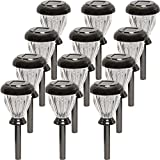 GreenLighting Nickel Plated Classic LED Solar Path Light (Black, 12 Pack)