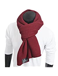 FORBUSITE Winter Scarf for Men Knit, Oversized Claret E5081