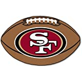 FANMATS NFL San Francisco 49ers Nylon Face Football Rug