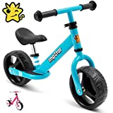 ImpStar Toddler Balance Bike with Adjustable Handlebar and Seat for Children Aged 2-4 – Lightweight Kids Balance Bike with Footrest, Wide Tires for Stability – Durable Walking Bicycle Without Pedals