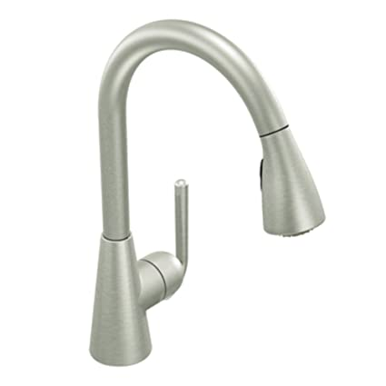 Moen S71708CSL Ascent One-Handle High Arc Pulldown Kitchen Faucet Featuring  Reflex, Classic Stainless