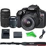 Canon EOS Rebel T6 Digital SLR Camera with 18-55mm EF-S f/3.5-5.6 IS II Lens & EF 75-300mm f/4-5.6 III Lens + DigitalAndMore Microfiber Cloth