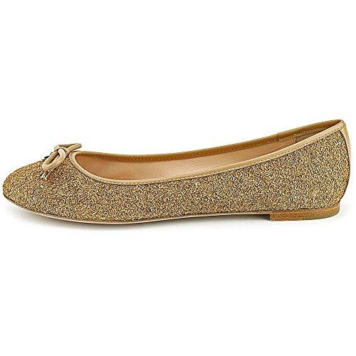 Kate Spade New York Willa Balletto Piatto Naturale / Glitter Oro Sughero / Nappa Naturale