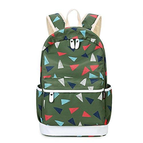 G2PLUS Leichte Schulrucksack mit Polka Dots Nette Canvas Schultaschen Damen Mädchen EXTRA Groß Kinderrucksack Daypacks Rucksäcke Modische mit Laptop Fach 28 * 42 * 13 cm