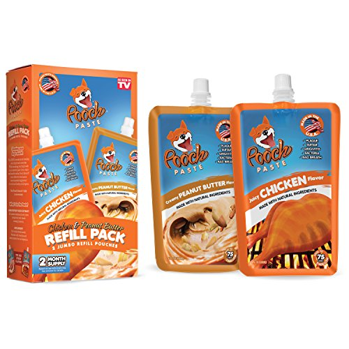 Pooch Paste Refill Pack - Original Combo (Chicken & Peanut Butter) by Vante Brands (Dog Tongue Brush compare prices)
