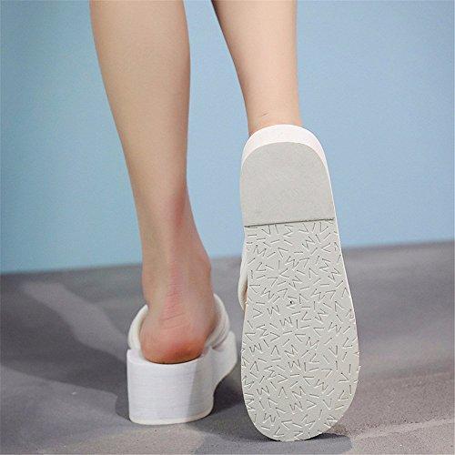 de arena diseño YMFIE con mujer piscina de Zapatillas blanco antideslizante 7qHZxgw
