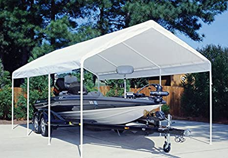 King Canopy 20 ft  Drawstring Cover in White 764807