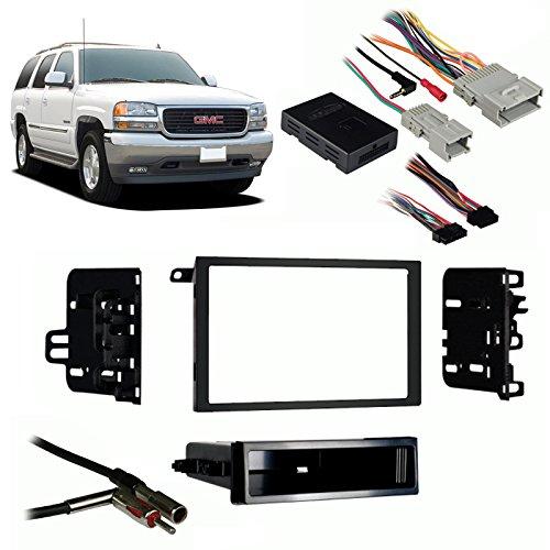 Fits GMC Yukon/Yukon XL 2003-2006 Double DIN Harness Radio Install Dash Kit ()
