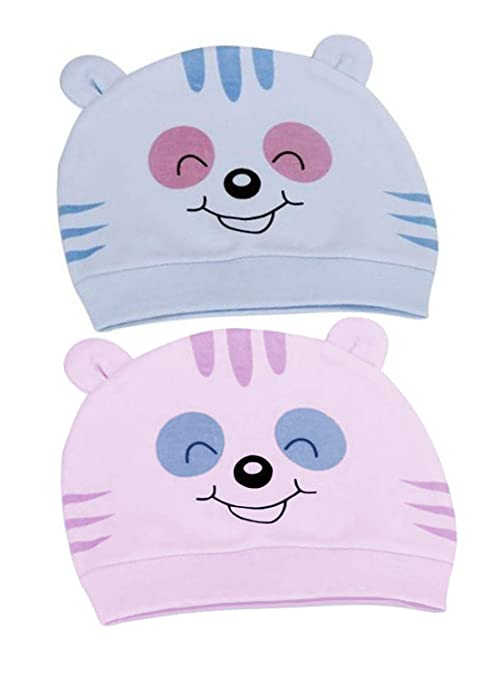 0027c278710 Ave Baby Cotton Cap-Pack of 2  Amazon.in  Baby