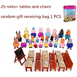 TOYQO Peppa Pig's Classroom Playset - Peppa, George, Mummy, Daddy, Friends, Teacher, School Desk & Black Board Toy Set (Multicolour) -Set of 39