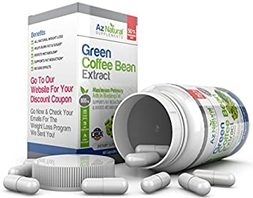 Green Coffee Bean Extract Plus BONUS Healthy Living & Weight Loss eBook  Sent Via Email - Platinum 60 Count Capsules - Work Great With Raspberry