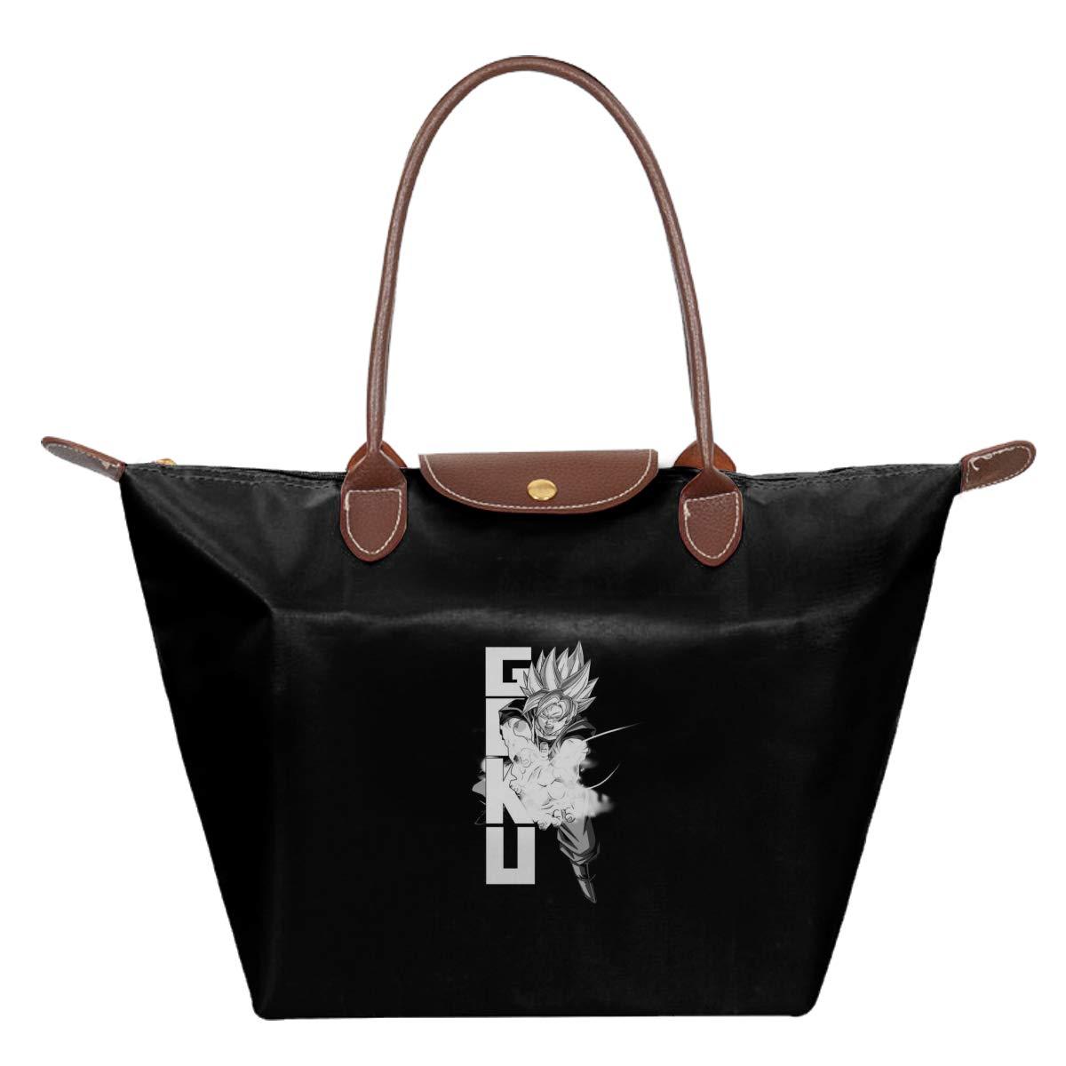 Dragon Ball Z Goku White Saiyan Waterproof Leather Folded Messenger Nylon Bag Travel Tote Hopping Folding School Handbags