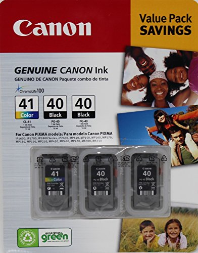 Inkjet 41 Cl Canon - Canon 1 CL-41 and 2 PG-40 Ink Cartridges Value Set