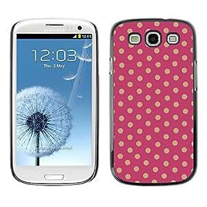 Be Good Phone Accessory // Dura Cáscara cubierta Protectora Caso Carcasa Funda de Protección para Samsung Galaxy S3 I9300 // Polka Dot pattern