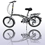 "American Phoenix 20"" Folding Bike 6 Speed Fold Storage Bicycle"